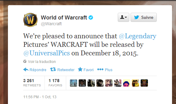 World of Warcraft - Le film?