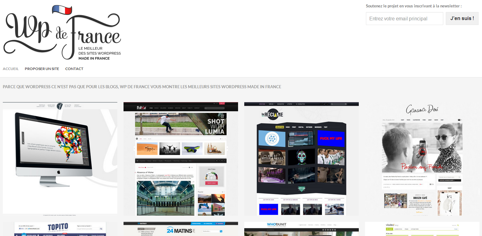 WP de France - Les meilleurs sites WordPress, Made in France