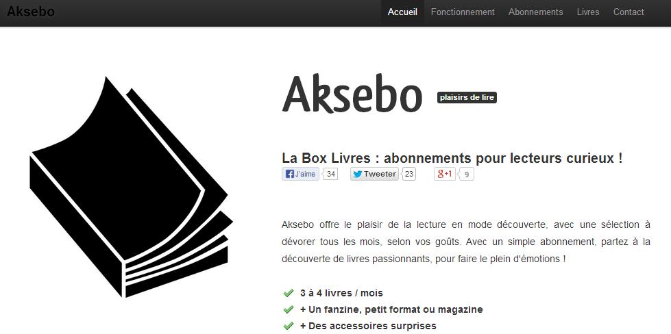 Aksebo, la box à lire