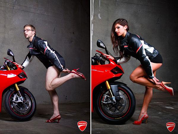 Des mecs posent comme des nanas pour Ducati