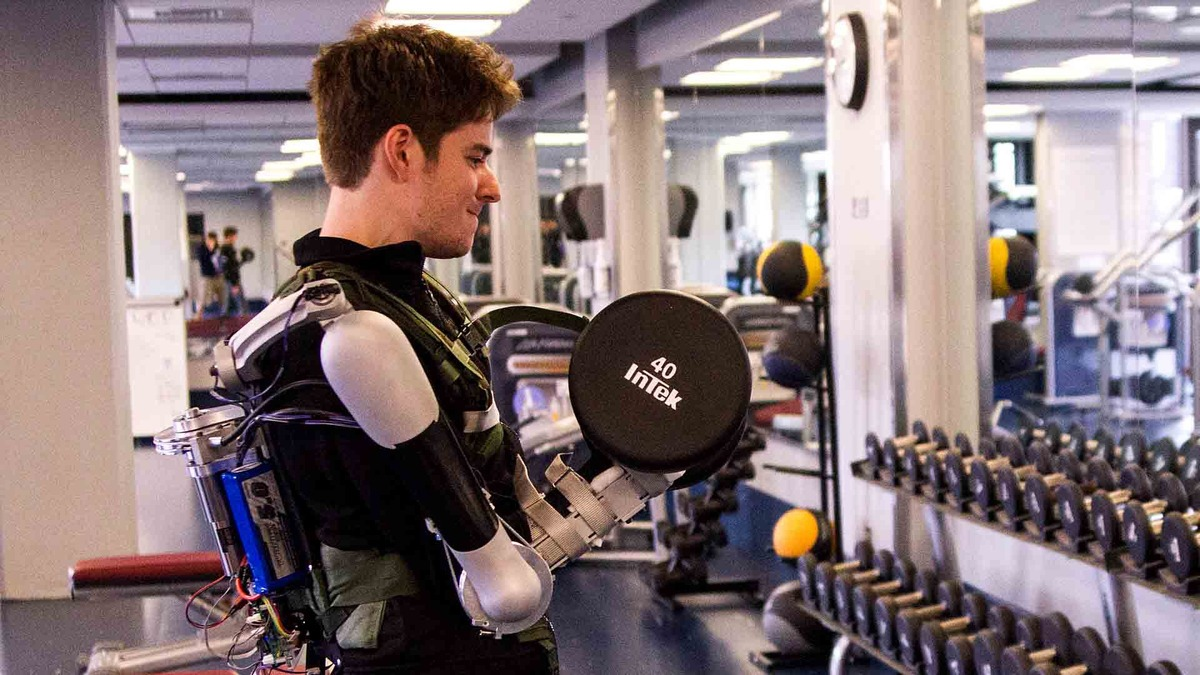 Un exo-squelette pour augmenter la force de ton bras