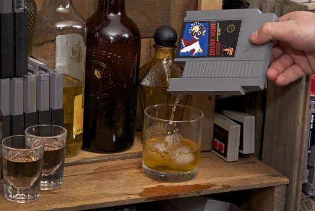 Une cartouche nintendo - flash de whisky