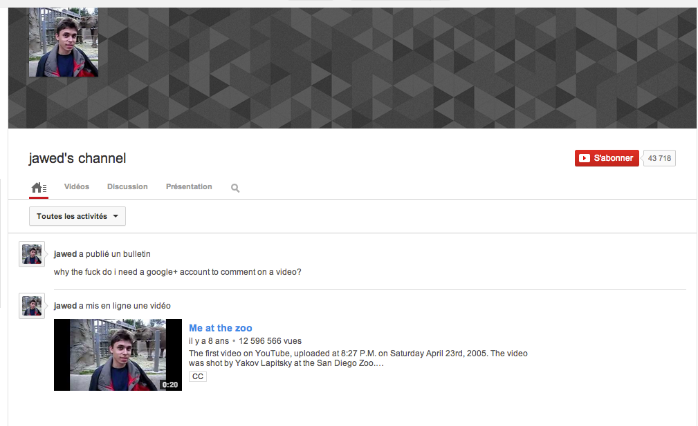 Le co-fondateur de Youtube n'approuve pas le nouveau système de commentaire