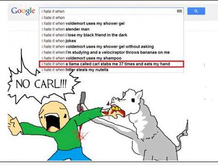 10 suggestions bizarres de google, illustrées