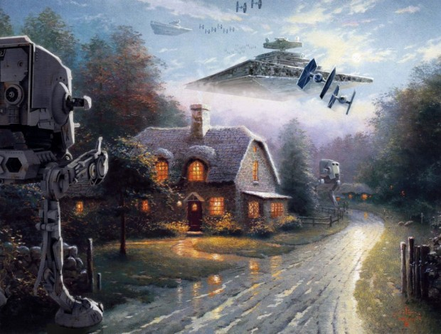 Thomas Kinkade: quand star wars envahit nos campagnes