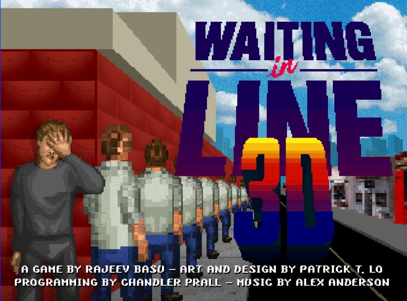 waitinglinein3d geek gkdv geekndev xbox playstation file attente entrainement