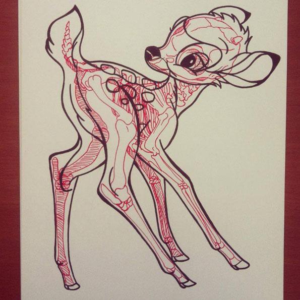 bambi disney rayons x gkdv geekndev geek geekart