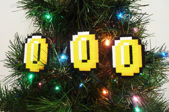 gold pieces 8bits decoration noel sapin geek gkdv geekndev